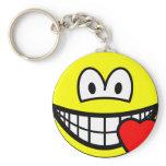 Love heart smile   keychains
