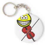 Violin playing smile   keychains