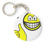 Coin flip smile   keychains
