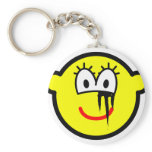 Running makeup buddy icon   keychains