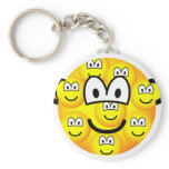 Multiple personality emoticon   keychains