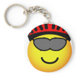 Biker emoticon glasses  keychains