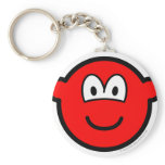 Colored buddy icon red  keychains