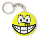 Running makeup smile   keychains