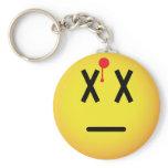 Dead emoticon Shot  keychains