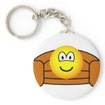 Couch potato emoticon   keychains
