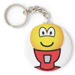 Gumball machine emoticon   keychains