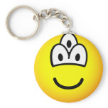 Drieoogige emoticon   keychains