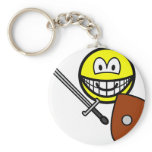 Sword fighting smile   keychains