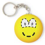 Dashed emoticon   keychains