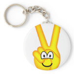 Peace sign emoticon   keychains
