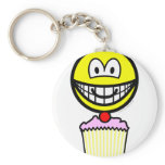 Cup cake smile eating   keychains