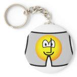 Boxer short emoticon   keychains