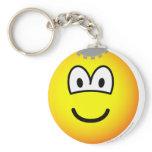 Thinking emoticon Cogs  keychains