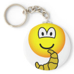 Croissant eating emoticon   keychains