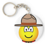 Canadian mountie emoticon   keychains