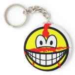 Anarchist smile   keychains