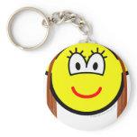 Brunette buddy icon   keychains