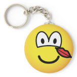Kissed emoticon   keychains