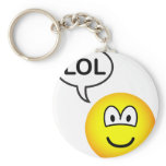 LOL emoticon  laugh(ing) out loud keychains