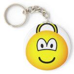 Space hopper emoticon   keychains