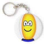 Rugby ball emoticon   keychains