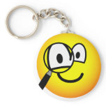 Magnifying glass emoticon Looking through  keychains