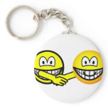Hands shaking smilies   keychains