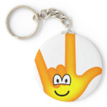 I love you emoticon   keychains