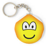 Pentagon emoticon   keychains