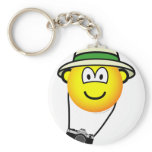Tourist emoticon   keychains