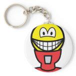 Gumball machine smile   keychains