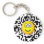 Qr Code emoticon 2D barcode  keychains