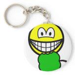 Apple eating smile   keychains