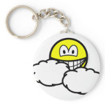 Partly cloudy smile   keychains