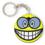 Binoculars smile   keychains