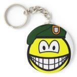 Green beret smile   keychains