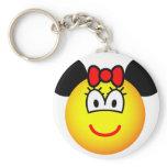 Minnie Mouse emoticon   keychains
