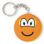 Fake tan emoticon orange  keychains