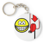 Queueing smile take a number  keychains