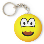Chocolate mustache emoticon   keychains