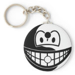 Ying Yang smile [Black/Yellow]  keychains