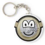 Euro coin buddy icon   keychains