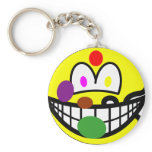 Painters palette smile   keychains