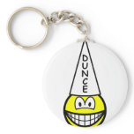 Dunce smile   keychains