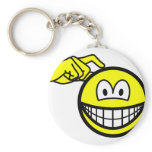 Head scratching smile   keychains