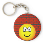 Against the wall emoticon   keychains