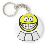 Face sun reflector smile   keychains