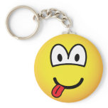 Happy face emoticon   keychains