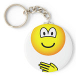 Paper emoticon rock - paper - scissors  keychains